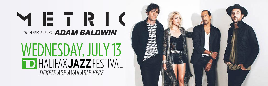 Metric with Adam Baldwin at Halifax Jazz Festival