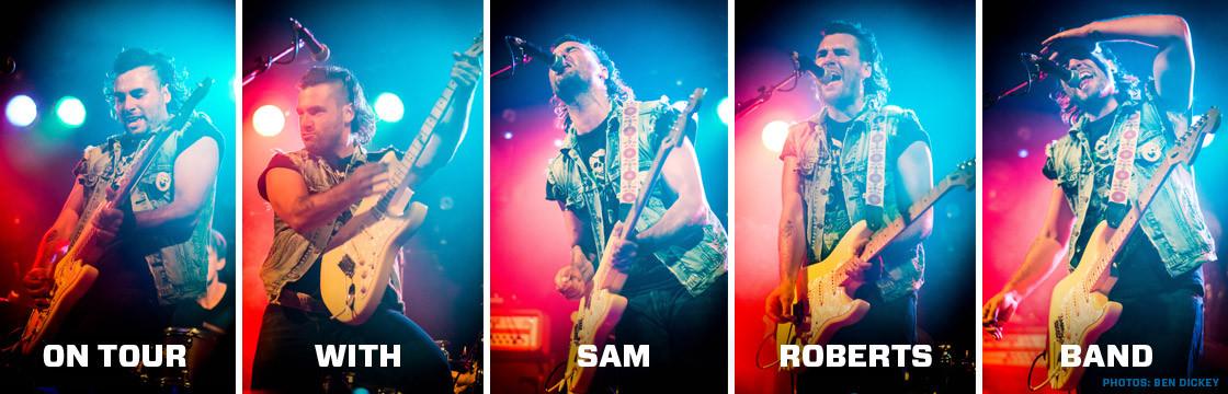 Adam Baldwin on tour with Sam Roberts Band