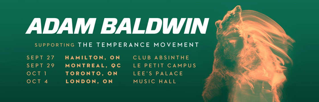 Adam Baldwin supporting The Temperance Movement
